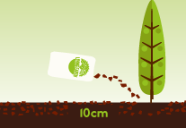 Trees and Shrubs:   Remove weeds, moisten soil and liberally spread around trees and shrubs to a depth of 100mm, keeping mulch away from the base of plants.