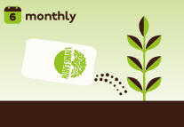For best results apply Living Earth Organic Compost twice yearly. Your plants will dig it!